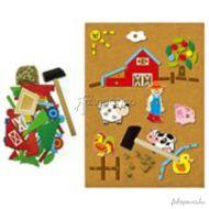 Mozaik szett (farmos) - kalapálós játék