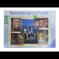 RAVENSBURGER neuschwansteini benyomások 1500 DARABOS PUZZLE