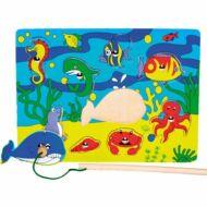 Mágneses horgász-puzzle (csikóhalas)
