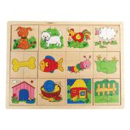 Puzzle felező (állatos)