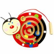 Mágneses golyóvezető (kicsi katica) - készségfejlesztő játék