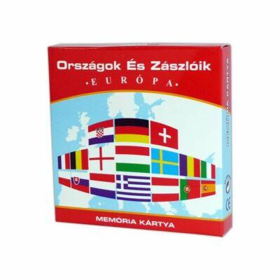 Memóriakártya: Országok és zászlóik (Európa)