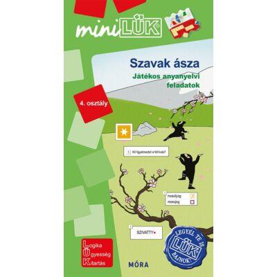 Szavak ásza - miniLÜK - Játékos anyanyelvi feladatok 4. osztály (Legyél Te is LÜK bajnok!)