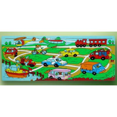 Puzzle 21 db-os (járműves)