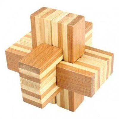 Logikai kereszt, 6 részes (kicsi, bambusz)